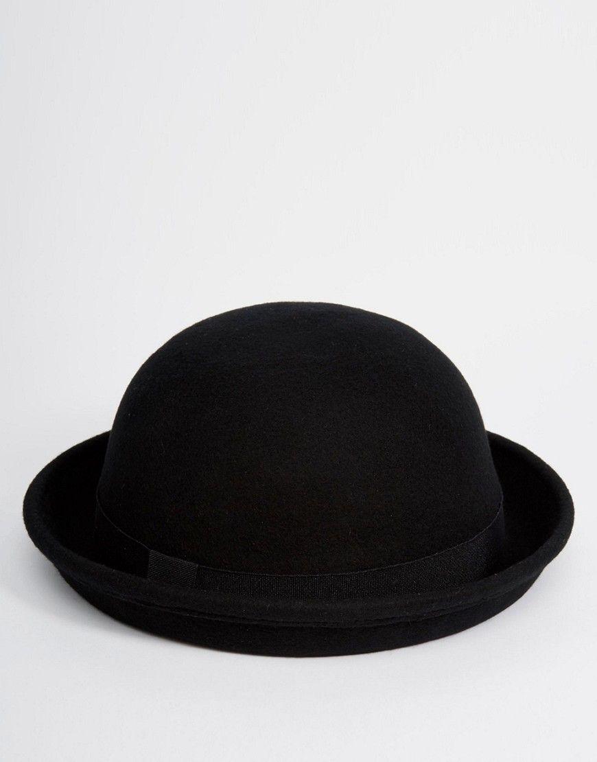 ASOS Bowler Hat In Black Felt - Black  e7e839ba2270