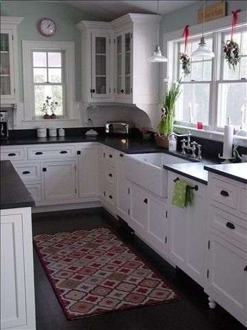 classic white kitchen.  I like the mixture between the ORB drawer pulls and knobs and the chrome plumbing fixture.