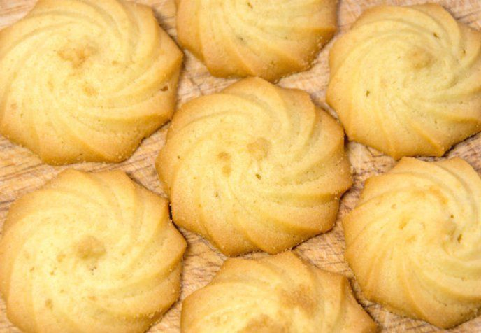 Galletas de mantequilla sin huevo con solo 4 ingredientes, ¡para vender!
