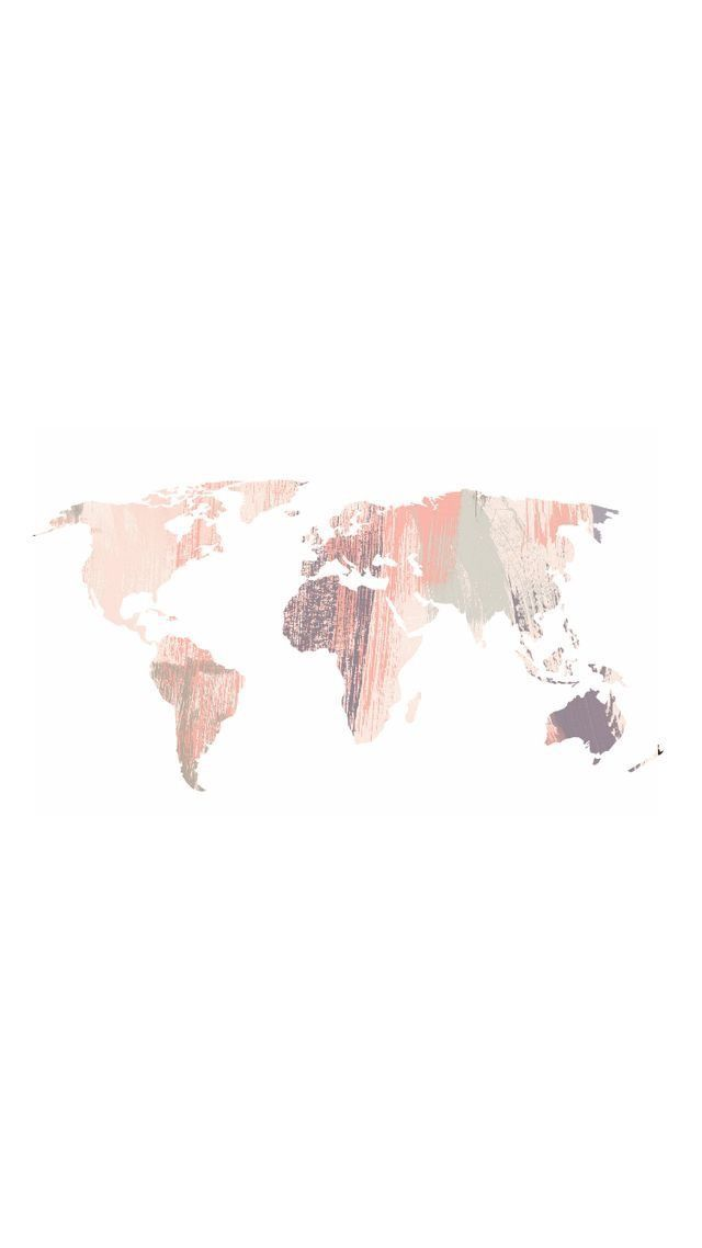 Pastel World Map Colorfull In 2019 Pinterest Iphone Wallpaper