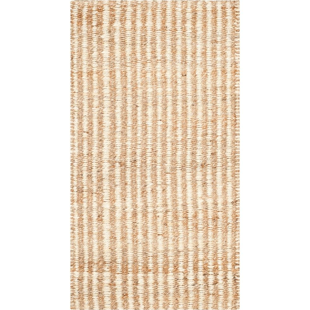 2 3 X4 Stripe Woven Accent Rug Natural Ivory Safavieh Braided