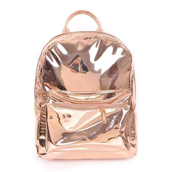 70c55f4223 Mirror Shine Metallic Mini Backpack