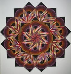 Quilts + Color: Center radiating quilts