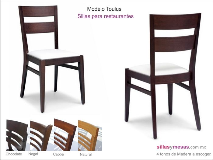 Sillas toulus sillas de madera para 700 for Sillas de comedor color gris