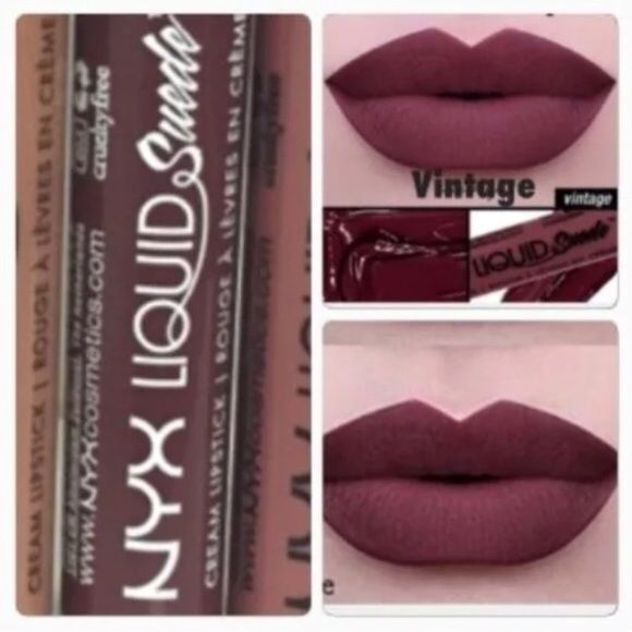 NYX-VINTAGE-LIQUID SUEDE CREAM LIPSTICK HTF!! Boutique | Smooth ...