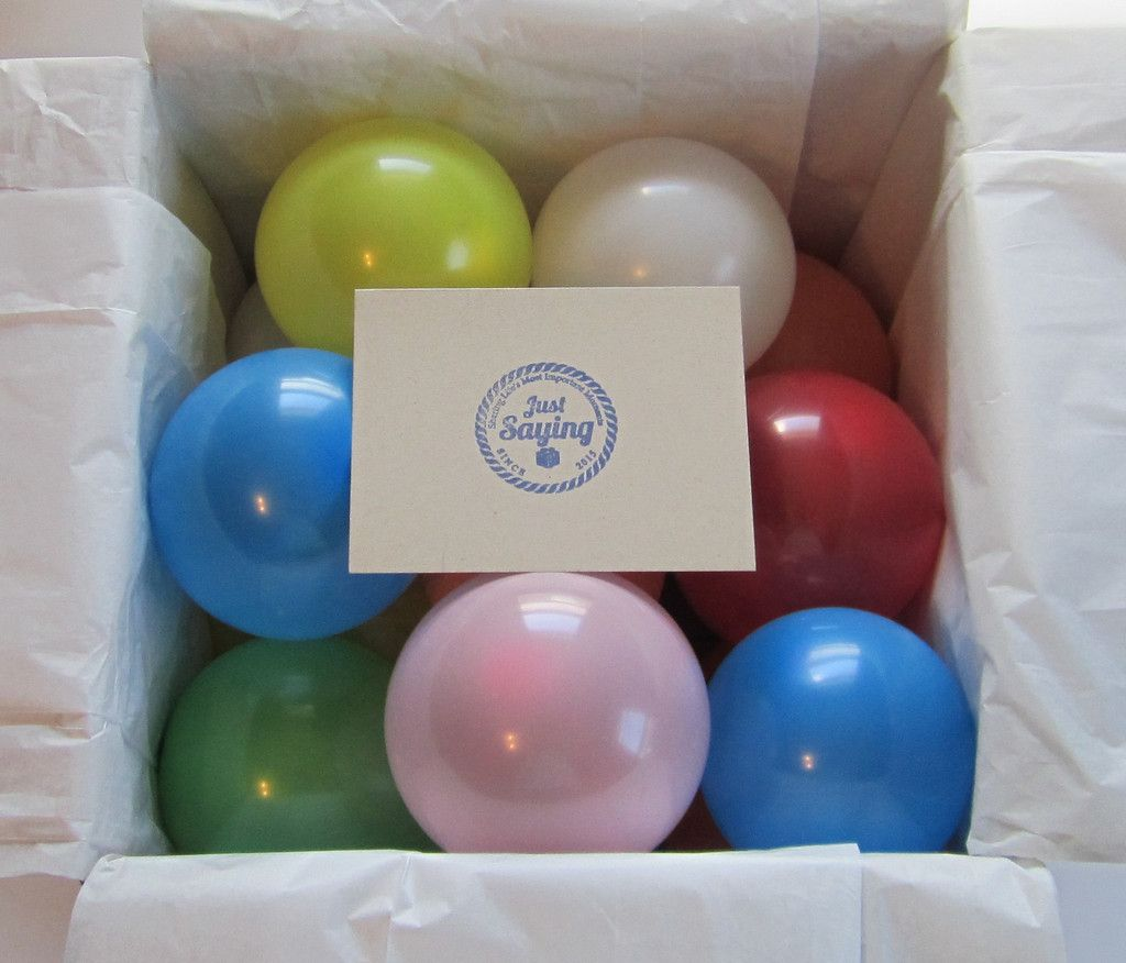 Happy Birthday Balloon Box With Surprise Message