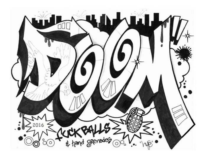 DOOM GRAFFITI | Graffiti in New York | Pinterest | Graffiti and ...