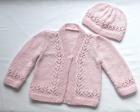 Ravelry: Project Gallery for Lacy Cardigan, Hat, and Shoes pattern ...