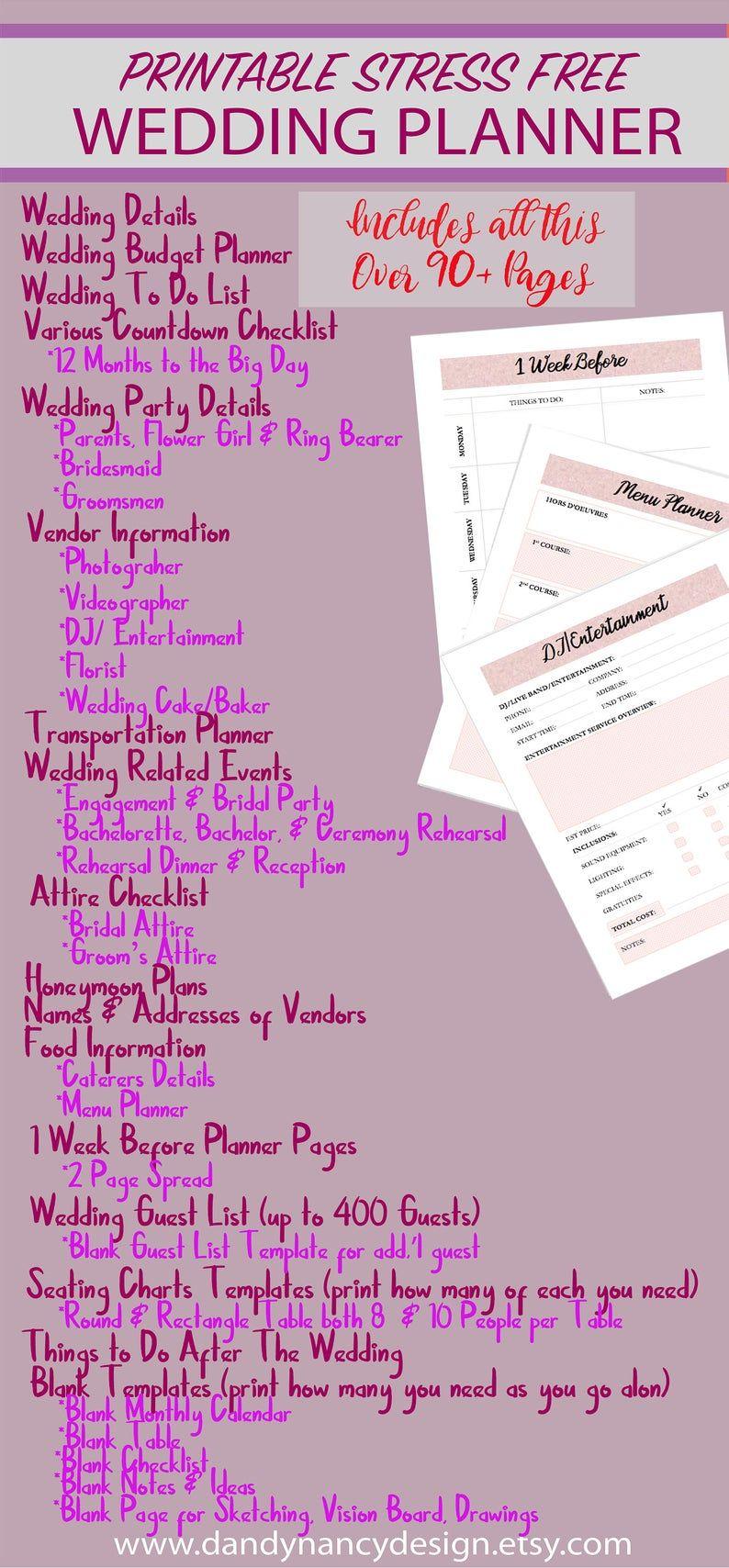 Pin By Dandy Nancy Design On My Wedding Ideas In 2020 Free Wedding Planner Wedding Planner Printables Wedding Planning Binder