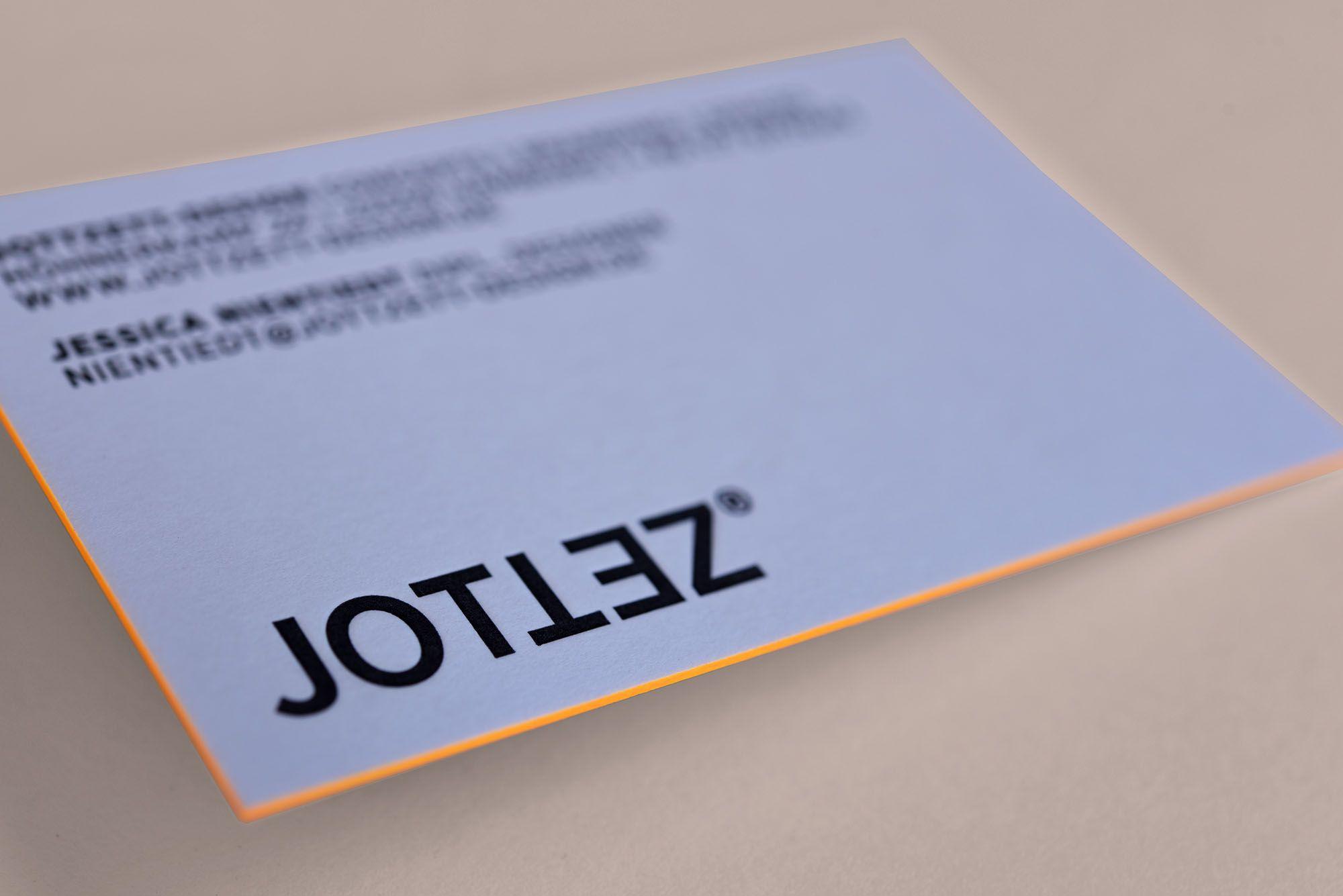 Visitenkarten Für Www Jottzett Design De Letterpresso