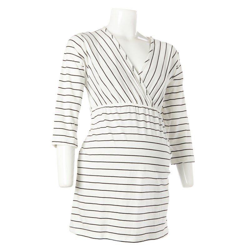 Stripe Maternity Tunic 374078851   Shirts Blouses ...