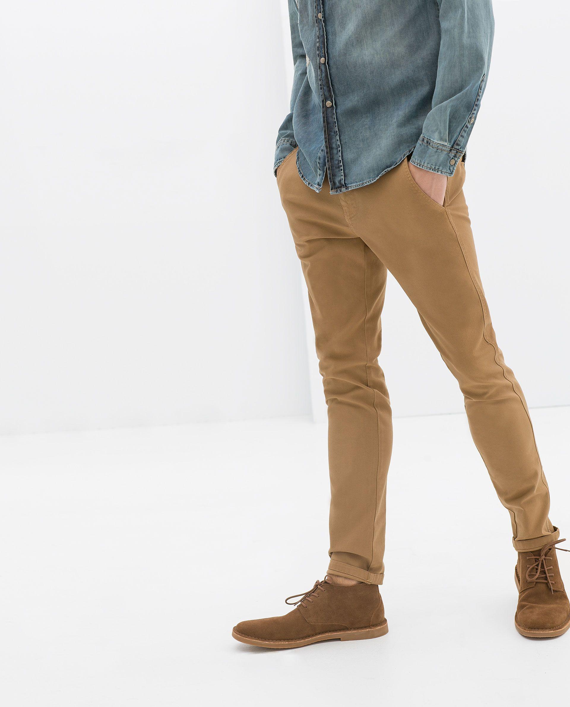 Pantalon Chino Zara Chinos Men Outfit Mens Outfits Tan Chinos