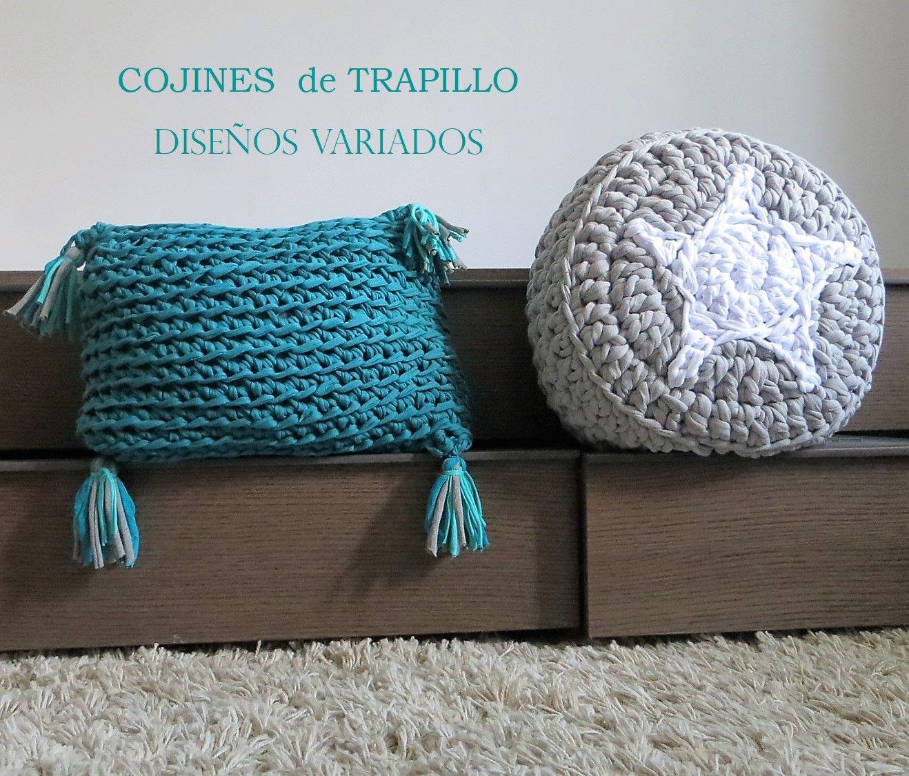 Cojines de trapillo hechos a mano con dise os variados for Cojines de trapillo