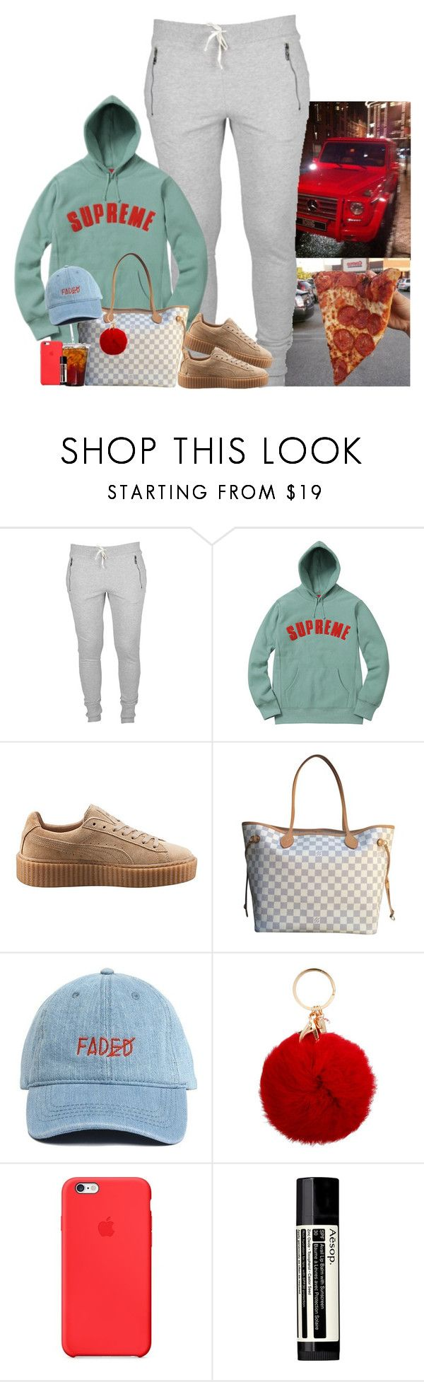 """""""❣️"""" by jemilaa ❤ liked on Polyvore featuring Puma, Louis Vuitton and Aesop"""