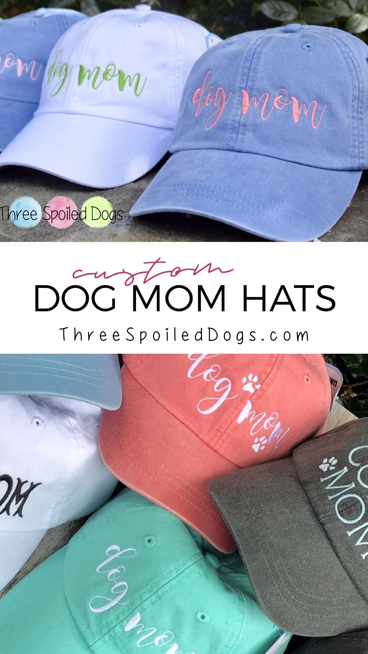 46e81734b Dog Mom Hat - Corgi Mom - Golden Mom - Lab Mom - Doodle Mom Baseball Cap -  Handwriting and Paw Prints Baseball Cap - Custom Gifts #dogmom  #doglovergifts ...