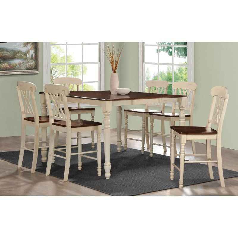 Acme Furniture Dylan 7 Piece Square Counter Height Dining Table Set    ACM1032