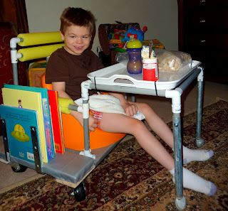 Rolling Base For Child Rite Seat With Added Tray Table