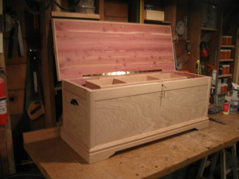 Oak Hope Chest Lined With Aromatic Tennessee Red Cedar Standard