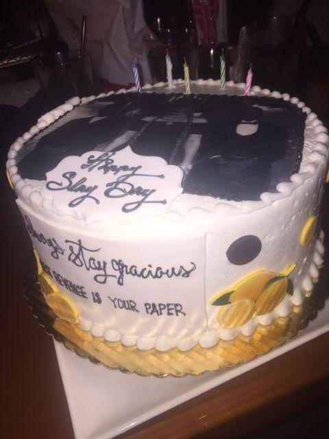 Astonishing Beyonce Lemonade Theme Birthday Cake With Images 40Th Birthday Personalised Birthday Cards Cominlily Jamesorg