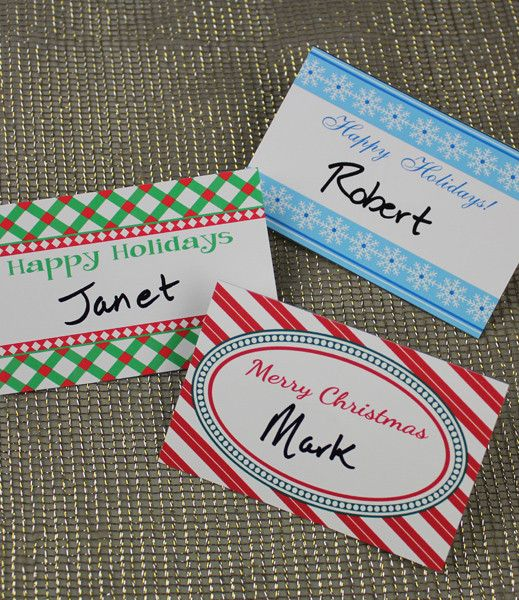 DIY Christmas Party Name Tag template from #DownloadandPrint - name labels templates free