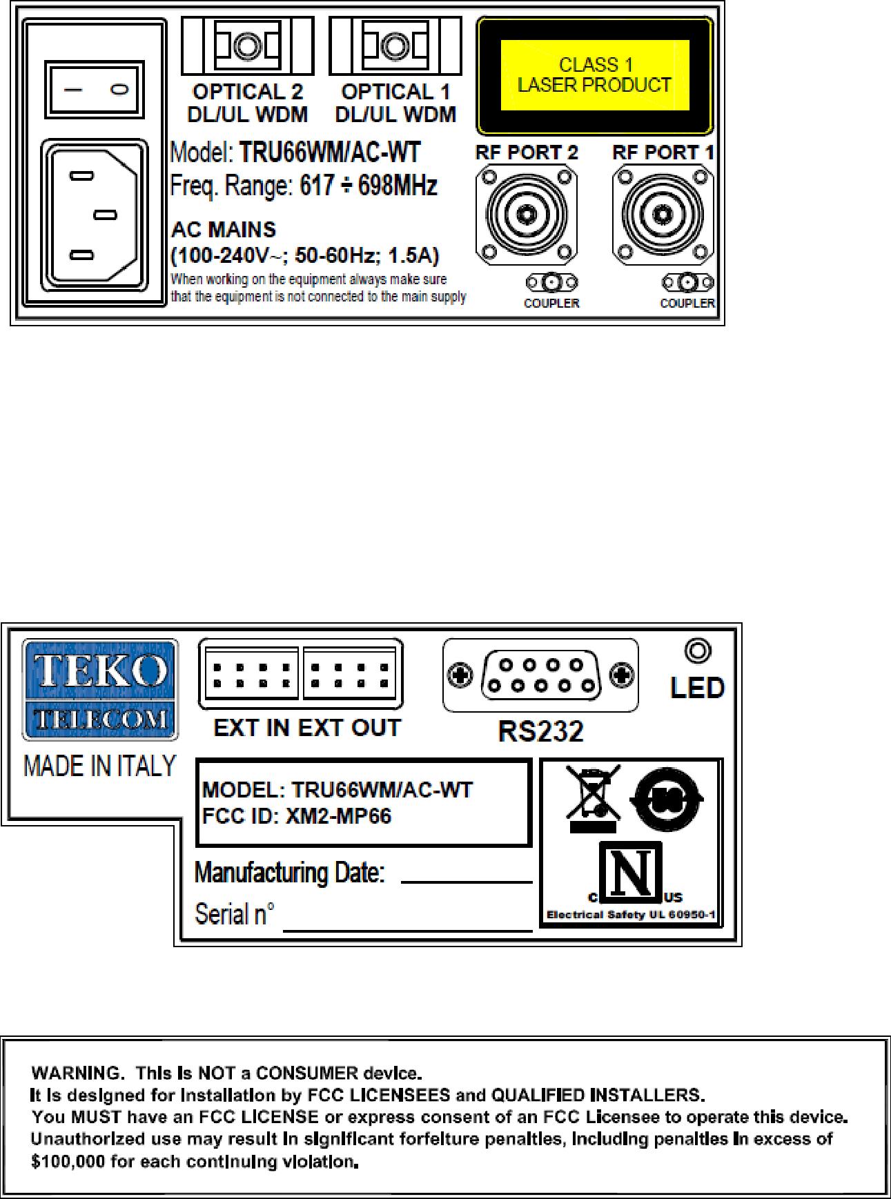 Teko Telecom Srl Remote Unit Medium Power MP66 (XM2-MP66