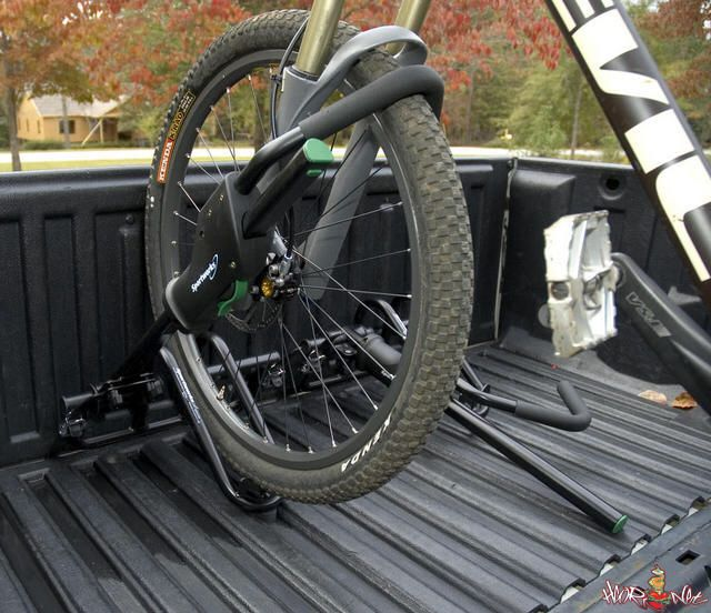 Truck Bed Bike Rack Clamps To The Bed Rails On Most Pickups Secure Your Bikes While Traveling With A Security Cabl Truck Bed Bike Rack Pickup Trucks Bike Rack