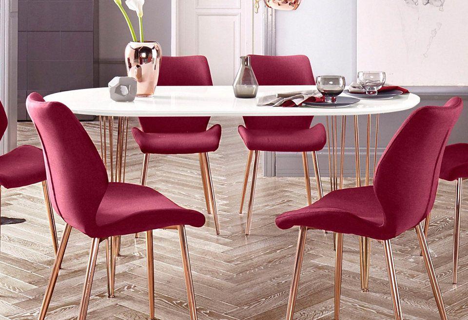 Esstisch mit kupferfarbenen Beinen, Breite 120 oder 160 cm Jetzt - esstische aus massivholz ideen