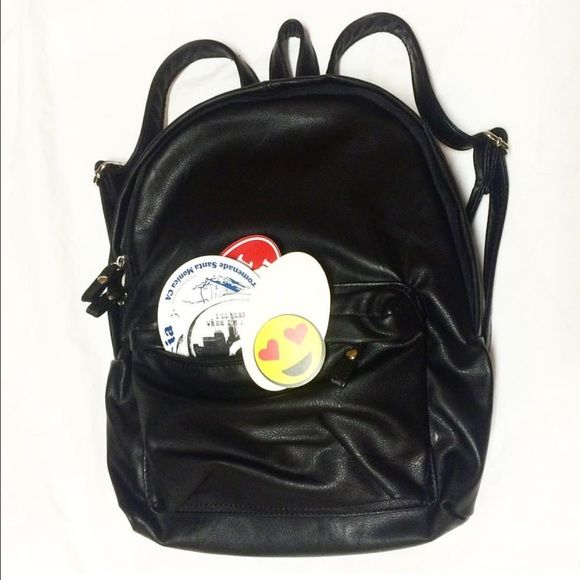Brandy Packin' Heat Mystery Bundle Includes leather backpack, 2 Brandy clothing items and lots of stickers! Cheaper with free ship on IG (@breakingbrandy) and merc! Brandy Melville Bags Mini Bags
