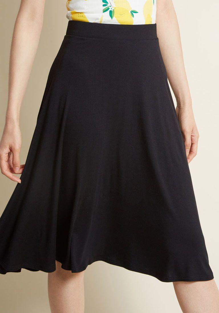 450fce8dc9 Long Black Cotton Knit Skirt – DACC