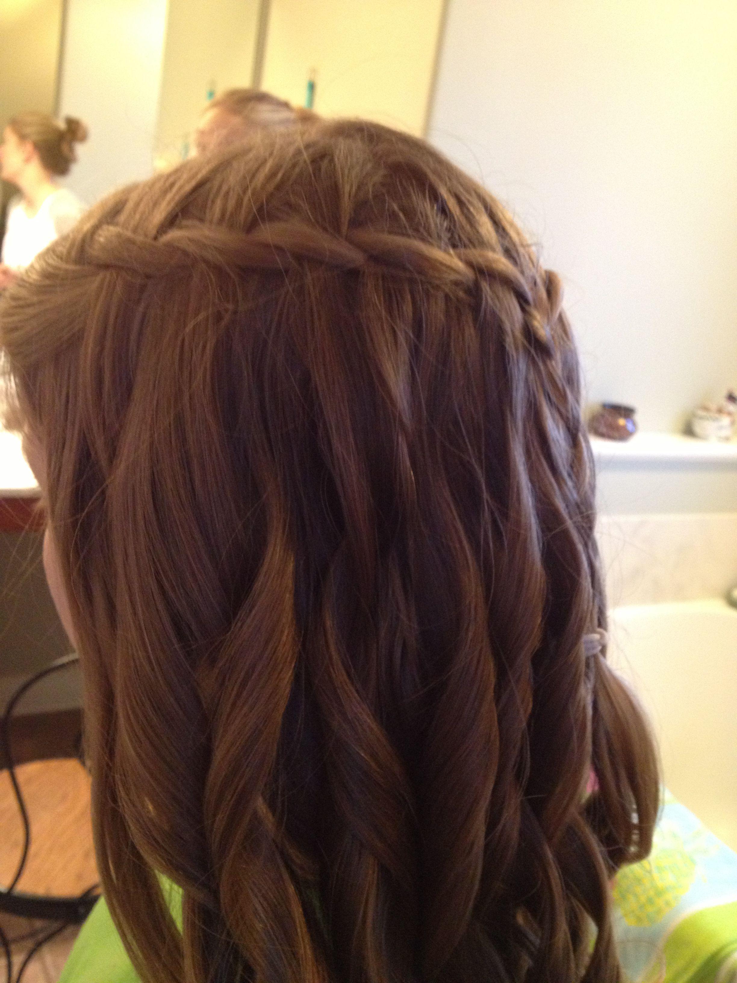 Waterfall Braid Before Middle School Dance Cute Hair