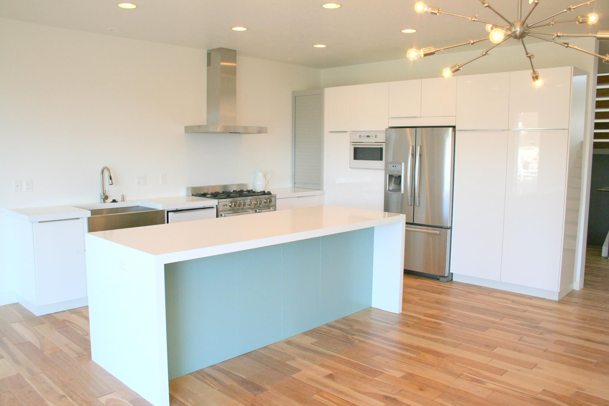 ikea kitchen countertop cleaning services white with waterfall countertops in zeus