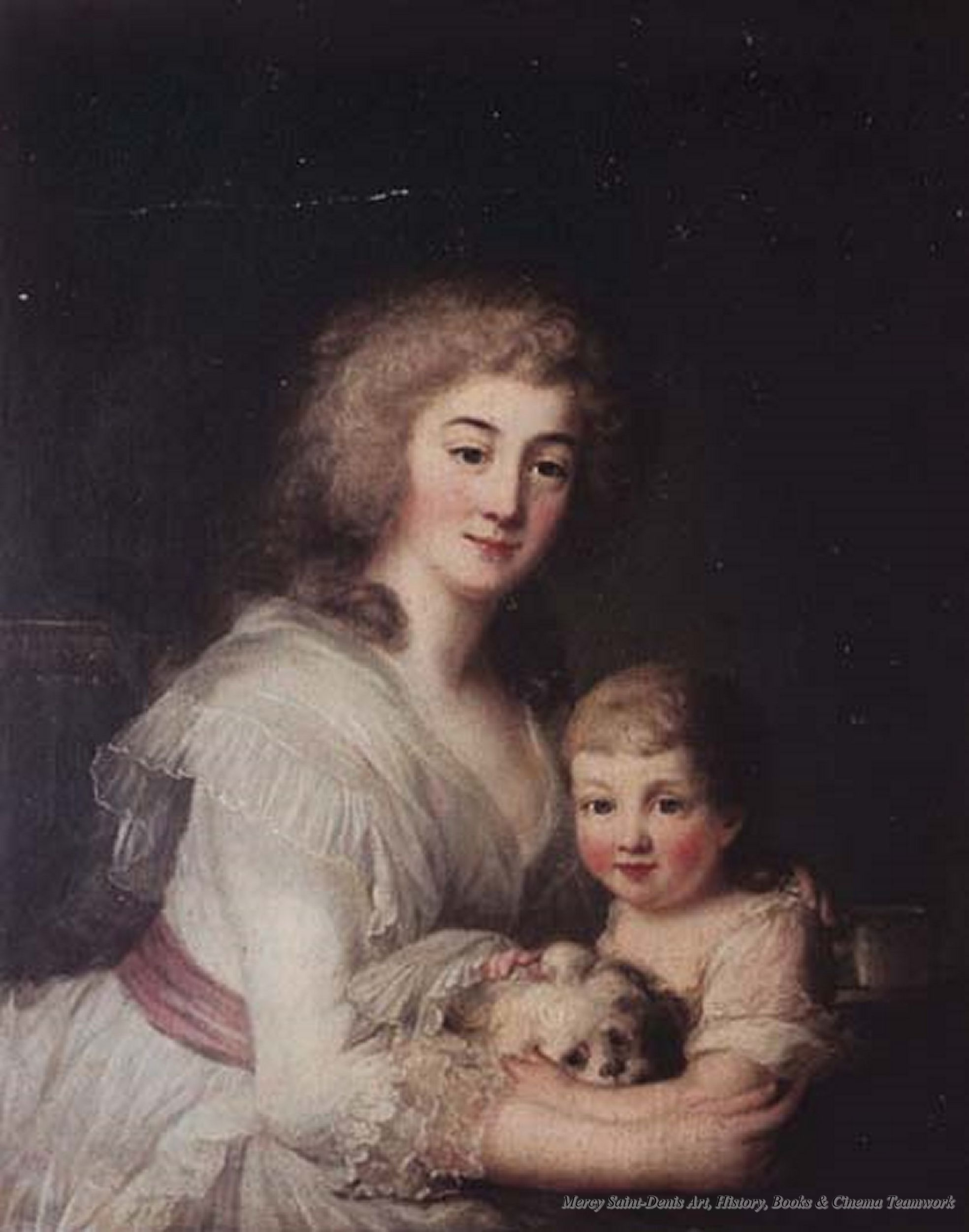 The Dauphin Louis-Charles and his Governess Mme de Tourzel - ca. 1788. |  Marie antoinette, Beauty art, Letting go of him