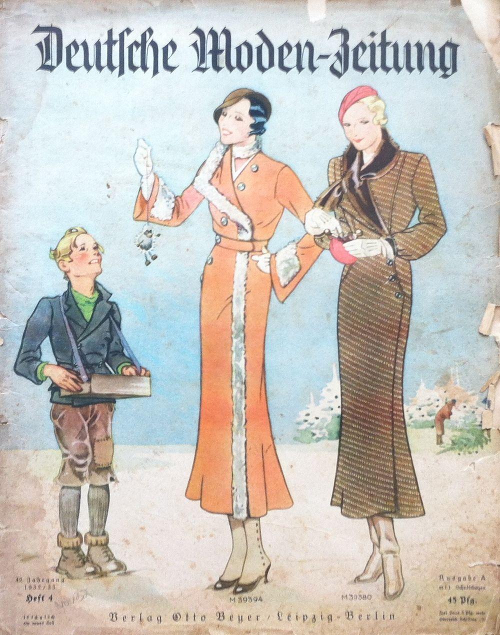 Deutsche Moden-Zeitung No. 4 Vol. 42 1932/33 - Vintage Sewing Patterns - Vintage fashion magazine