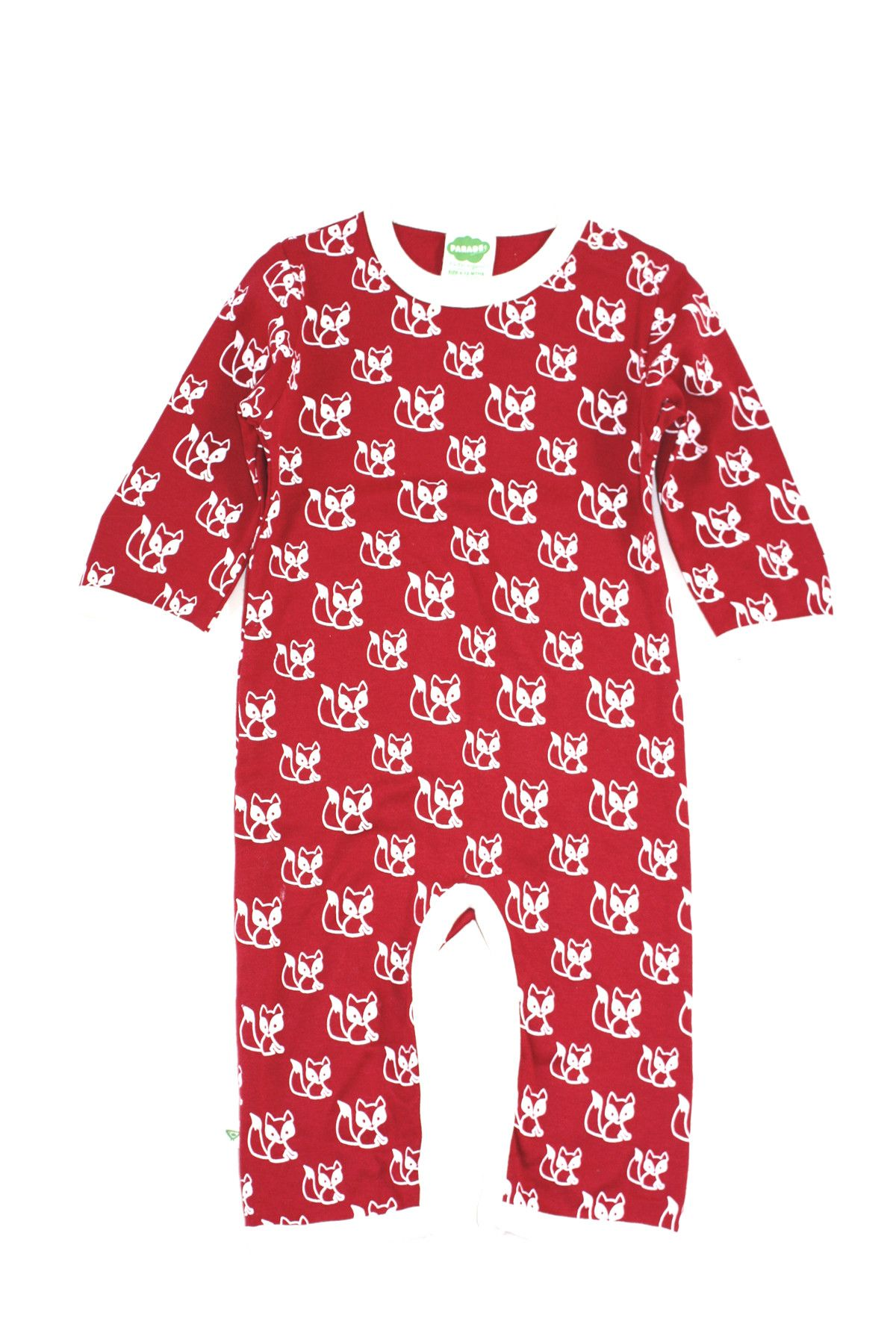 Parade Organic baby clothes Fox print Romper $28 Forest friends