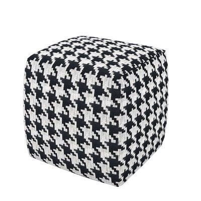 Peachy Wrought Studio Morecambe Cube Ottoman Upholstery Black Evergreenethics Interior Chair Design Evergreenethicsorg