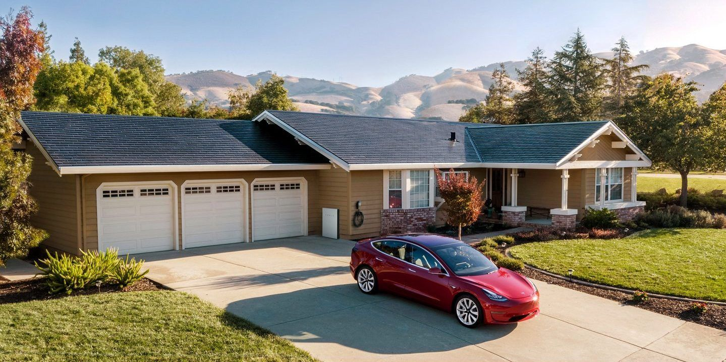 Tesla Solar Roof Installation Still Takes About 2 Weeks Install Time Needs To Go Down For Ramp Up Tesla Solar Roof Solar Panels Roof Solar Shingles