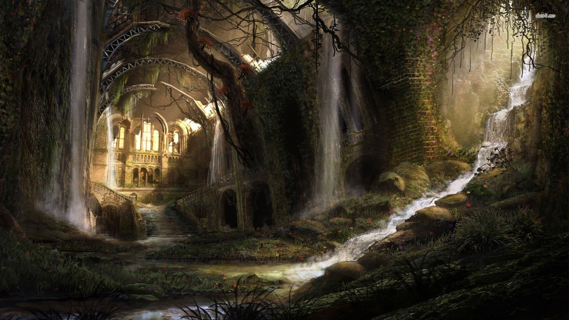 abandoned Medieval castle... if this doesn't conjure up a
