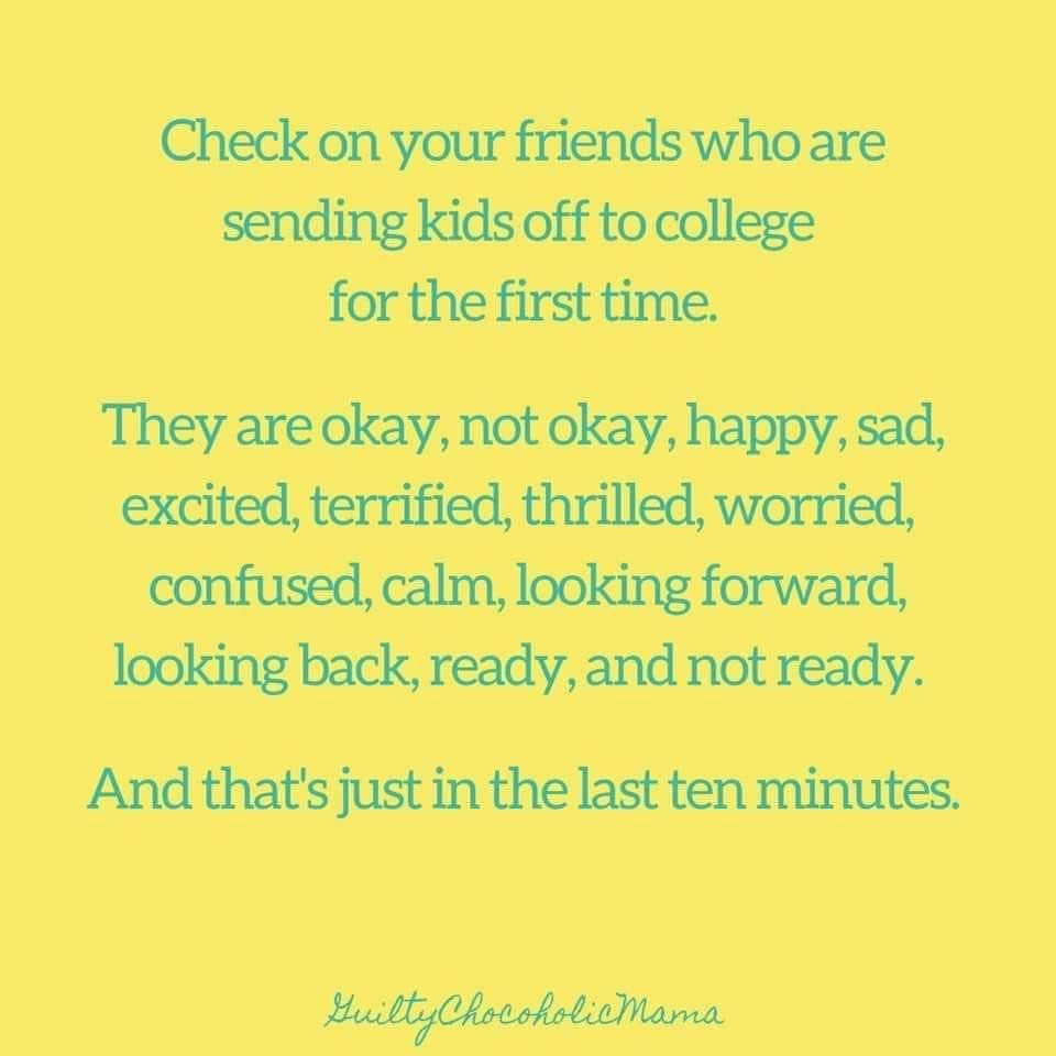 Moms of college kids friends in love parenting memes