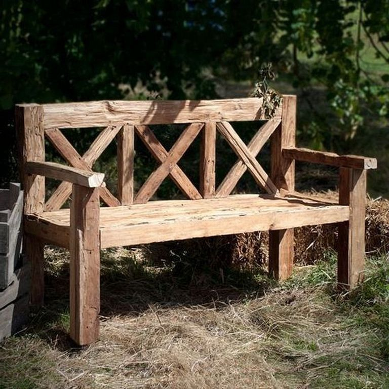 30 Admirable Types Bench In The Garden You Need To Know Garden Gardening Gardendesign Diy Bench Outdoor Pallet Furniture Outdoor Wooden Bench Outdoor