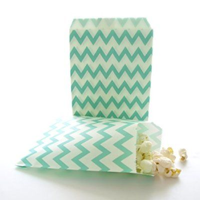 Teal Green Paper Candy Bags Kids Party Favor Small Birthday Goody And Gift Bag 75 Pack