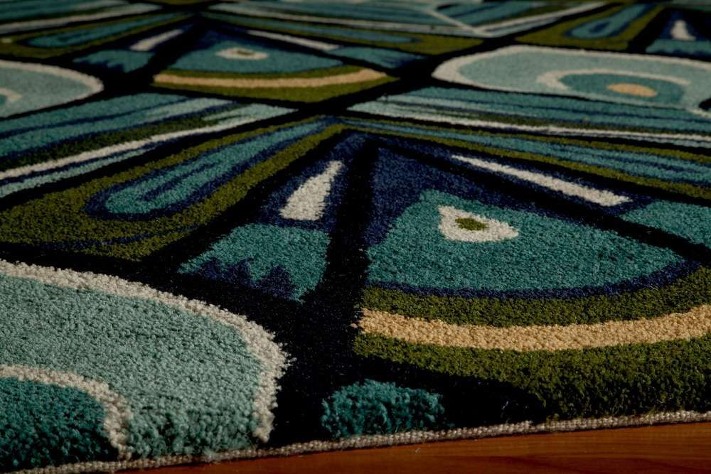 Peacock Blue Habitat Transitional Nouveau Rug | On Sale at Floors USA | Momeni No. HB-04