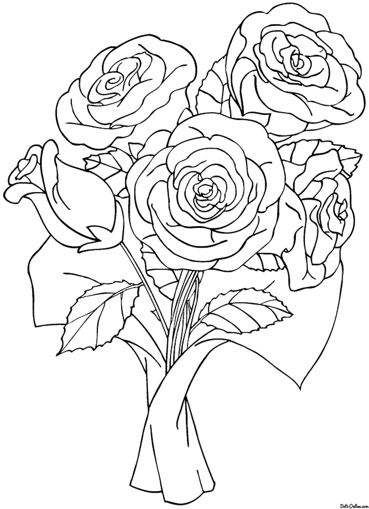 Букет цветы картинки рисунок