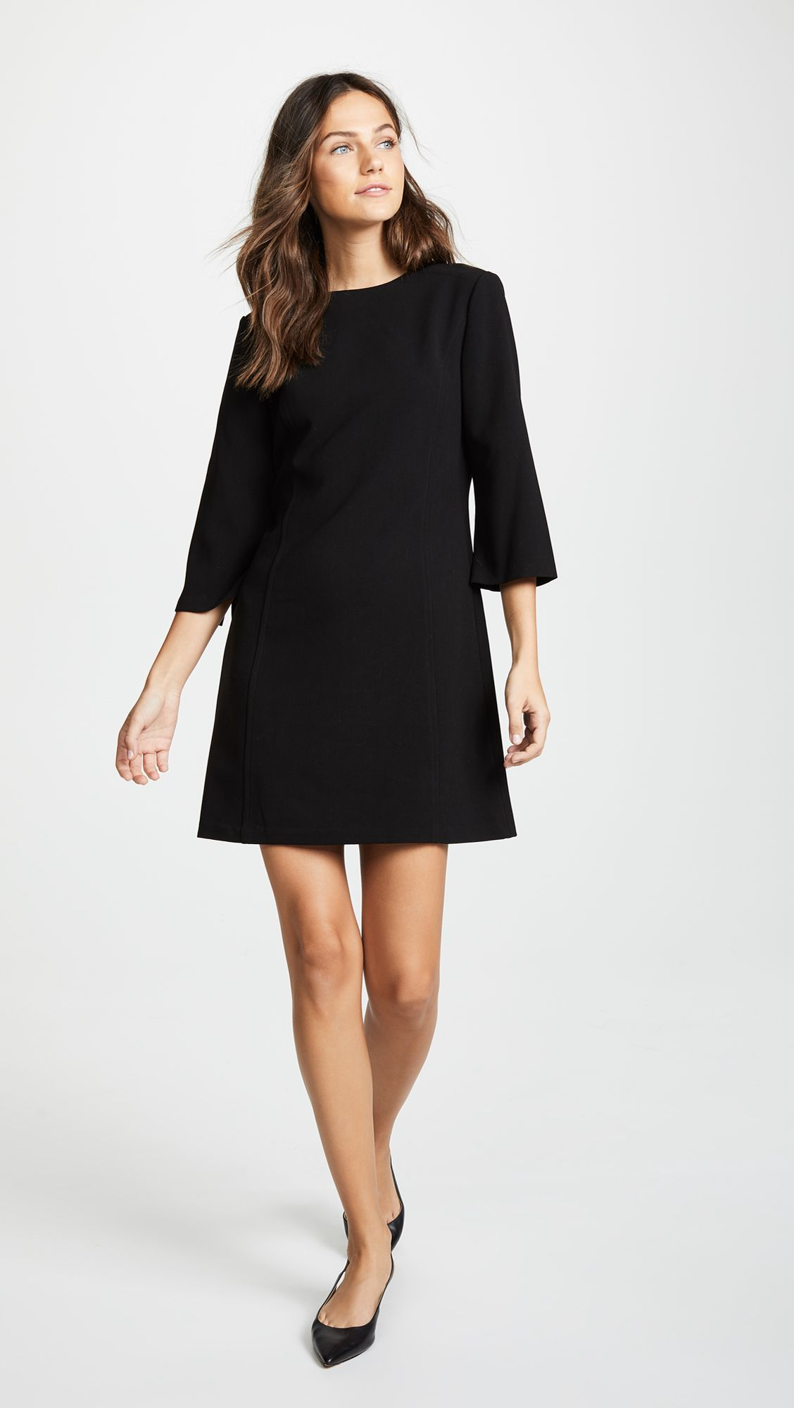 Alice Olivia Gem 3 4 Sleeve Shift Dress Shopbop Shift Dress Day To Night Dresses Dresses [ 2000 x 1128 Pixel ]