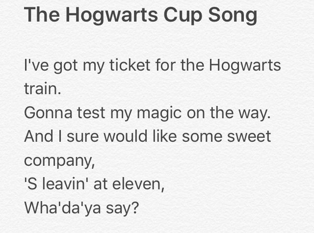 Harry Potter Cup Song Parody Part 1 4 Harry Potter Parody Parody Songs Harry Potter Fanfiction
