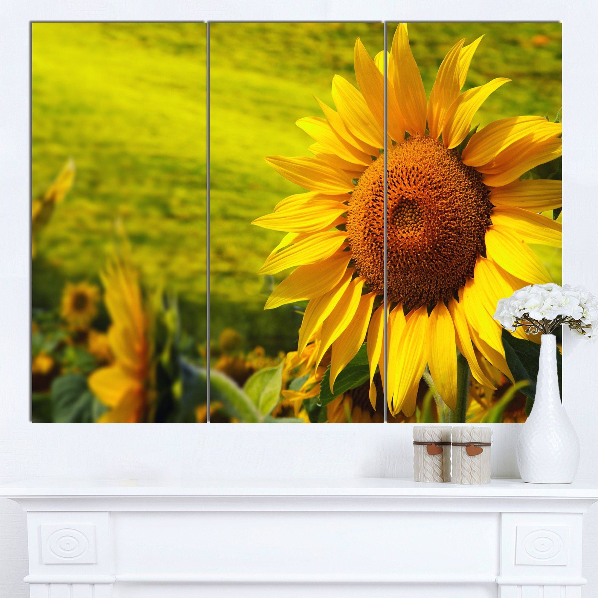DESIGN ART Designart \'Tuscany Sunflowers on \' Modern Floral Wall ...