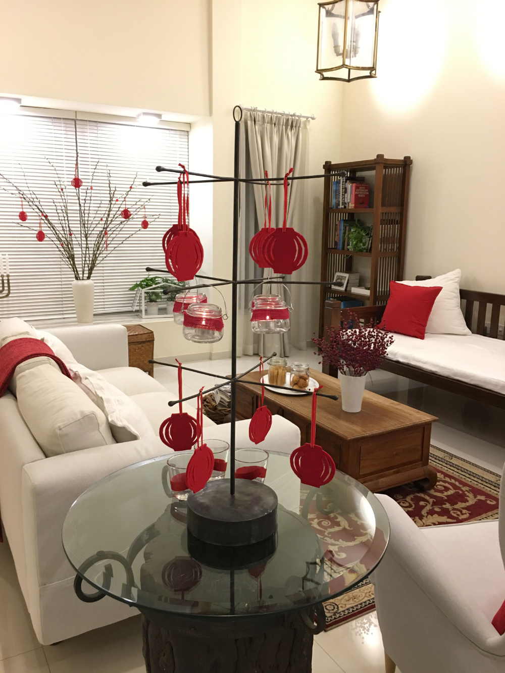 Chinese New Year Living Room Decorating Ideas Chinese Decor Chinese Theme Chinese New Year Decorations