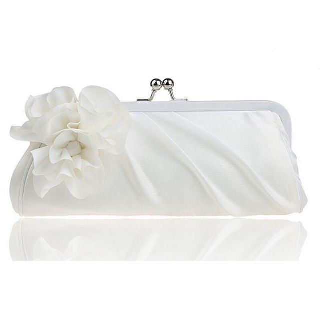 059aaf3b883d4 hot 3D Flower Silk Elegant Evening Bag Ladies Three-dimensional Flower Satin,Bridal  Wedding Purse Party Messenger Clutch WY38