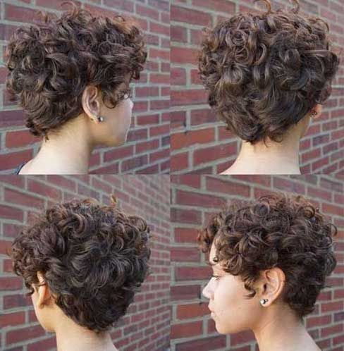 Frisuren Fur Kurze Dunne Lockige Haare Trend Damen Frisuren In 2020 Curly Pixie Hairstyles Curly Pixie Haircuts Short Wavy Hair