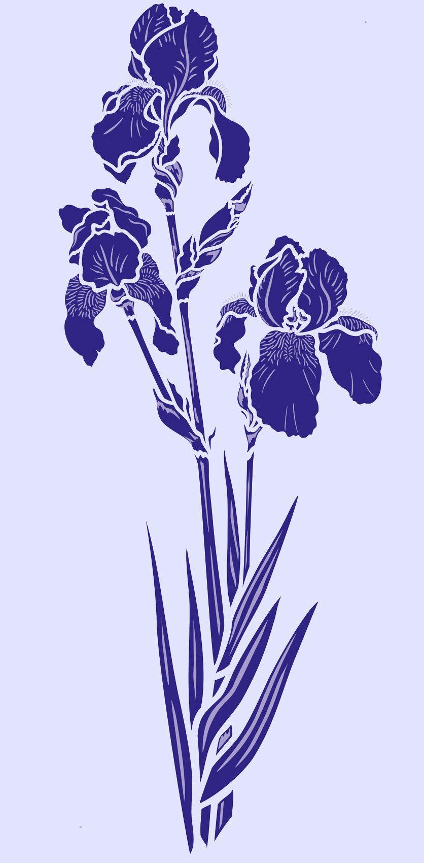 Large Iris Theme Pack Beautiful Iris Flower Stencils 2 X 2 Sheet Designer Stencils Iris Stencils 1 2 Beautiful Elegant Designer Iris Stencils In 2020 Flower Stencil Flower Painting Iris Flowers