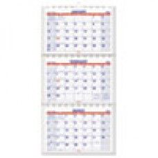 Desk Supplies>Desk Set / Conference Room Set>Holders> Calendar Holders: Move-A-Page Three-Month Wall Calendar, 12 x 26 1/2, Move-A-Page, 2015-2017